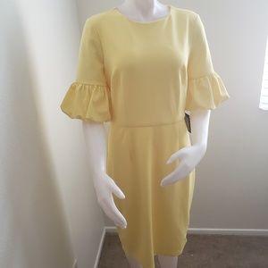 Marina womens  yellow dress